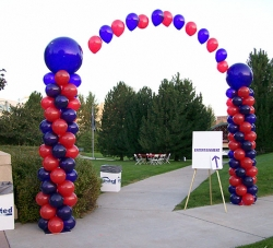 Entry Decor - Columns with String of Pearls Arch