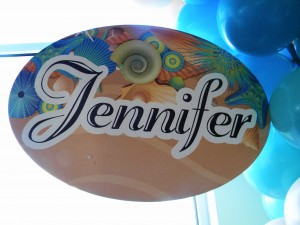 Amy Francesco Bar Mitzvah Bat Mitzvah Beach Theme name board Jennifer