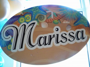 Amy Francesco Bar Mitzvah Bat Mitzvah Beach Theme name board Marissa
