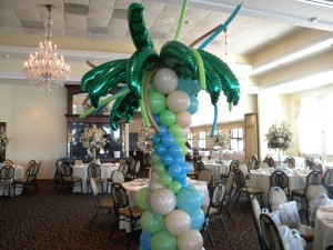 Amy Francesco Bar Mitzvah Bat Mitzvah Beach Theme palm tree