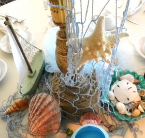 Amy Francesco Bar Mitzvah Bat Mitzvah Beach Theme table centerpiece2