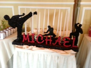 Bar Mitzvah - Karate Theme Decor