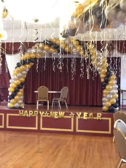 Black, Gold and Silver Stage Arch